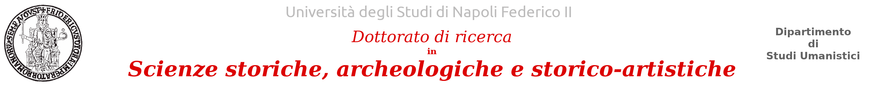 Dottorato in Scienze storiche, archeologiche e storico-artistiche